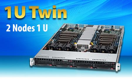 Supermicro 2 in 1 Servers   1U Twin SuperServers